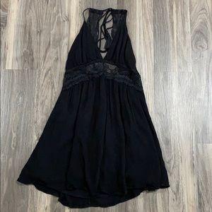 Lulu's black mini skater dress